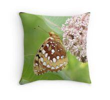 Great Spangled Fritillary... Throw Pillow
