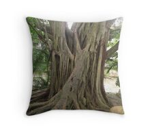 Trunk of a tree I - Down by the Riverside Throw Pillow