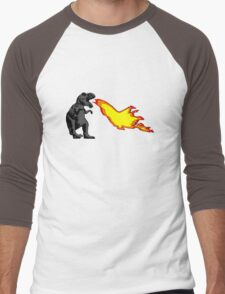 Dinosaur - Gray Men's Baseball ¾ T-Shirt