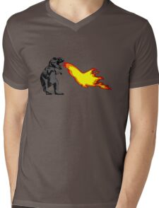 Dinosaur - Gray Mens V-Neck T-Shirt