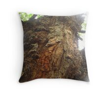 Trunk of a tree III - Down by the Riverside Throw Pillow
