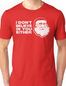 Disbelieving Santa - Funny Christmas Shirt T-Shirt