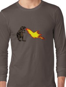 Dinosaur - Brown Long Sleeve T-Shirt