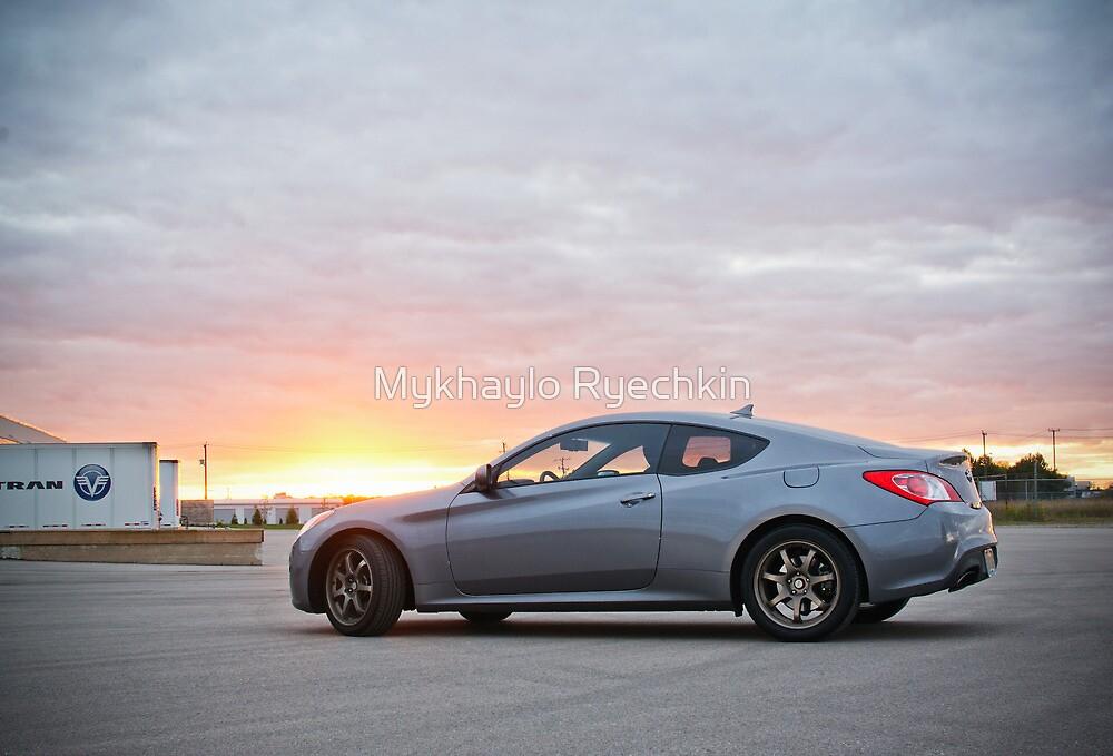 Genesis Coupe at Sunset by Mykhaylo Ryechkin