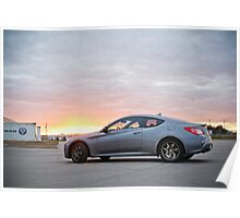 Genesis Coupe at Sunset Poster