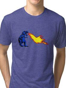Dinosaur - Blue Tri-blend T-Shirt