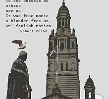 Robert Burns Ponders Glasgow City Chambers by simpsonvisuals