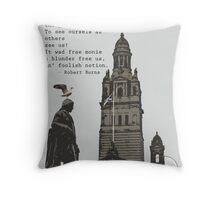 Robert Burns Ponders Glasgow City Chambers Throw Pillow