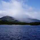 Ireland, Innisfallen Island and blue lake near Killarney  by Grace Johnson