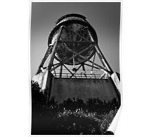 Water Tower, Alcatraz (black and white) Poster