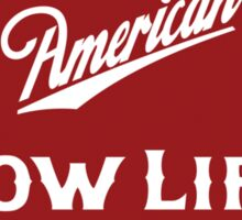 American Low Life Beer Logo Parody Sticker