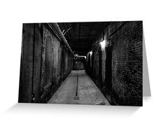 Corridor, Alcatrz (black and white) Greeting Card