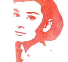 Audrey Hepburn Profile Red Sticker