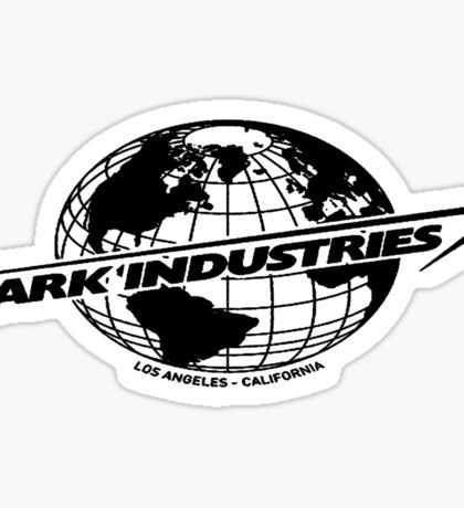 Stark Industries Global-Black Sticker