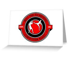 Muay Thai Kickboxing Competition Ready Red Greeting Card