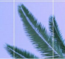 Palm Trees + Ombre Sky + Grid Aesthetic Sticker