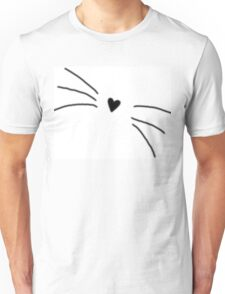 Heart Whiskers Unisex T-Shirt
