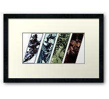 Metal Gear Solid Evolution Framed Print