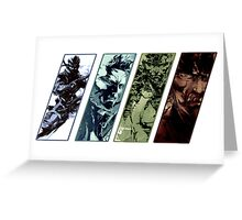 Metal Gear Solid Evolution Greeting Card