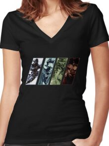Metal Gear Solid Evolution Women's Fitted V-Neck T-Shirt
