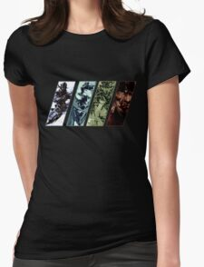 Metal Gear Solid Evolution Womens Fitted T-Shirt