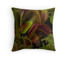 Toothy Plants Throw Pillow