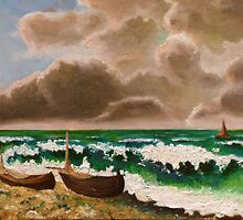 The Stormy Sea (The Wave), after Courbet by cupofmanatee