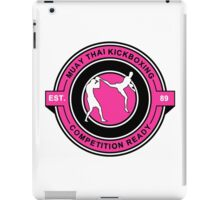 Muay Thai Kickboxing Competition Ready Pink  iPad Case/Skin