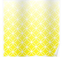 Yellow Ombre Lattice Circles Poster
