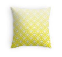 Yellow Ombre Lattice Circles Throw Pillow