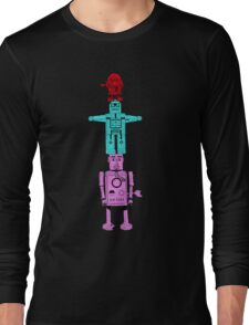 Robot Totem - Color Invert Long Sleeve T-Shirt