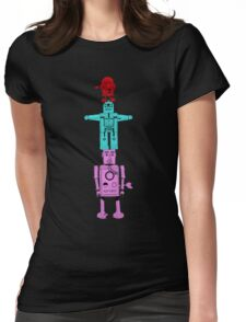 Robot Totem - Color Invert Womens Fitted T-Shirt