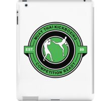 Muay Thai Kickboxing Competition Ready Green  iPad Case/Skin