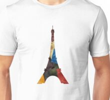 Eiffel Scraps - Eiffel Tower ScrapBook Unisex T-Shirt