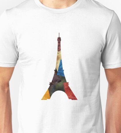 Eiffel Scraps - Eiffel Tower ScrapBook Unisex T-Shirt