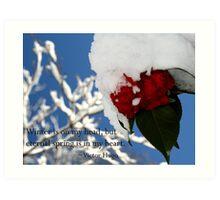 Nature Series/Snow Camellia Art Print