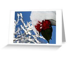 Nature Series/Snow Camellia Greeting Card