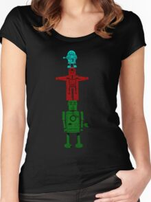 Robot Totem - Color Women's Fitted Scoop T-Shirt