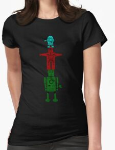 Robot Totem - Color Womens Fitted T-Shirt