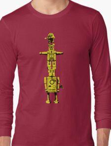 Robot Totem - BiLevel Yellow Long Sleeve T-Shirt