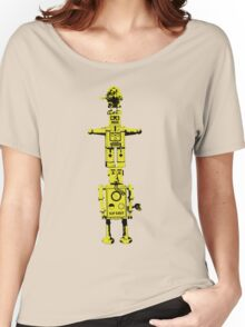 Robot Totem - BiLevel Yellow Women's Relaxed Fit T-Shirt