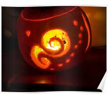 Firery Pumpkin Poster