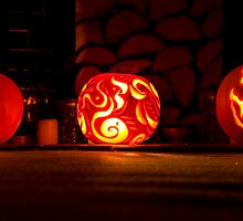 Trio of Pumpkins by Wealie