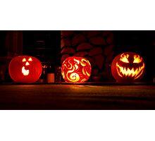 Trio of Pumpkins Photographic Print