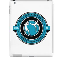 Muay Thai Kickboxing Competition Ready Blue  iPad Case/Skin