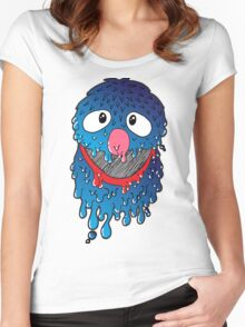 Melty Friend, Grover Women's Fitted Scoop T-Shirt