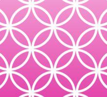 HotPink Ombre Lattice Circles Sticker