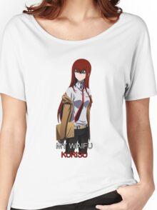 steins gate kurisu makise my waifu is my laifu anime manga shirt Women's Relaxed Fit T-Shirt