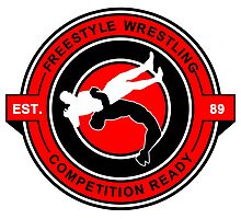 Freestyle Wrestling Competition Ready Suplex Red  Photographic Print