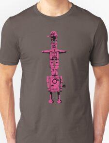 Robot Totem - BiLevel Pink T-Shirt